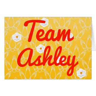 Equipo Ashley Tarjeta De Felicitación