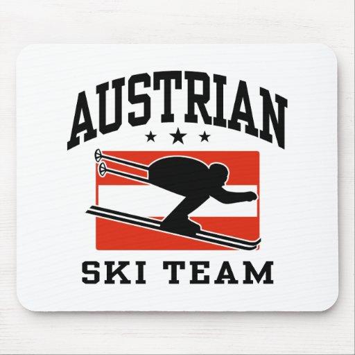 Equipo austríaco del esquí alfombrilla de ratón