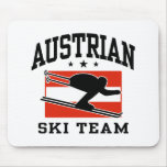 Equipo austríaco del esquí tapete de raton