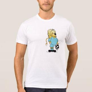 Equipo azul claro del fútbol, camiseta cómica del