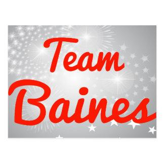 Equipo Baines Tarjetas Postales