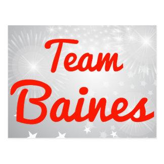 Equipo Baines Tarjeta Postal