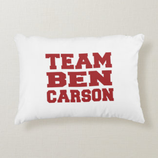 Equipo Ben Carson Cojín Decorativo
