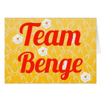 Equipo Benge Tarjeta De Felicitación