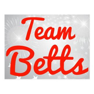 Equipo Betts Tarjeta Postal