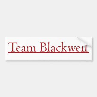 Equipo Blackwell Etiqueta De Parachoque