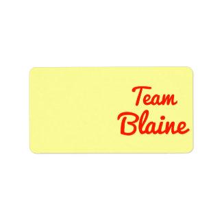 Equipo Blaine Etiqueta De Dirección