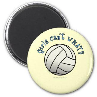 Equipo blanco del voleibol imán redondo 5 cm