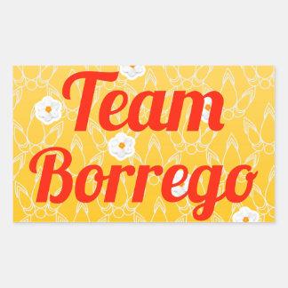 Equipo Borrego Rectangular Pegatinas