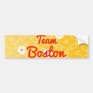 Equipo Boston Etiqueta De Parachoque