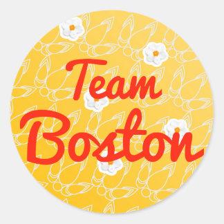 Equipo Boston Pegatina Redonda