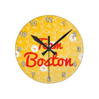 Equipo Boston Reloj De Pared