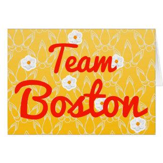 Equipo Boston Felicitacion