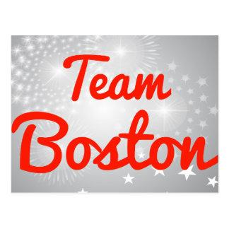 Equipo Boston Tarjeta Postal