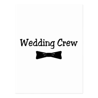 Equipo Bowtie del boda Tarjeta Postal