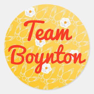 Equipo Boynton Pegatina Redonda