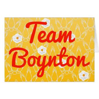 Equipo Boynton Tarjeta De Felicitación