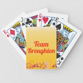 Equipo Broughton Baraja Cartas De Poker