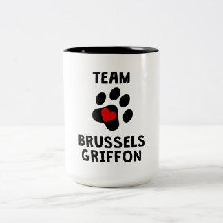 Equipo Bruselas Griffon Taza Dos Tonos