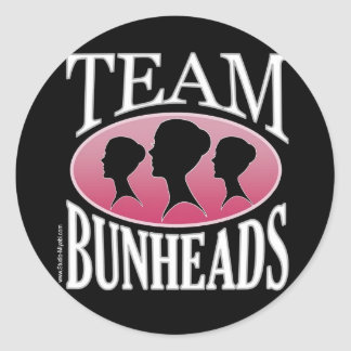 Equipo Bunheads (personalizable) Pegatina Redonda