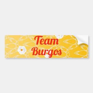 Equipo Burgos Etiqueta De Parachoque