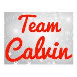 Equipo Calvin Tarjeta Postal