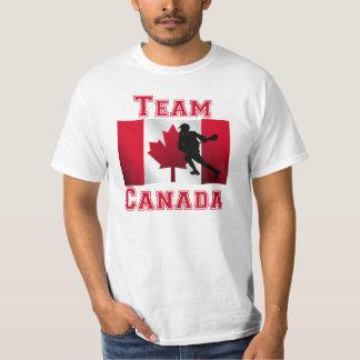 Equipo canadiense Canadá de la bandera de LaCrosse Playera