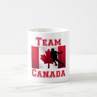 Equipo canadiense Canadá de la bandera de LaCrosse Taza De Café
