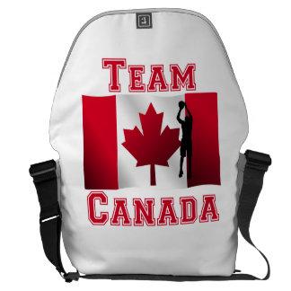 Equipo canadiense Canadá de la bandera del tiro en