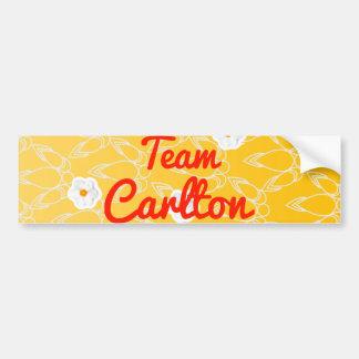 Equipo Carlton Pegatina De Parachoque