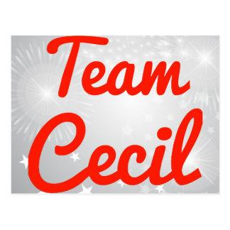 Equipo Cecil Tarjetas Postales