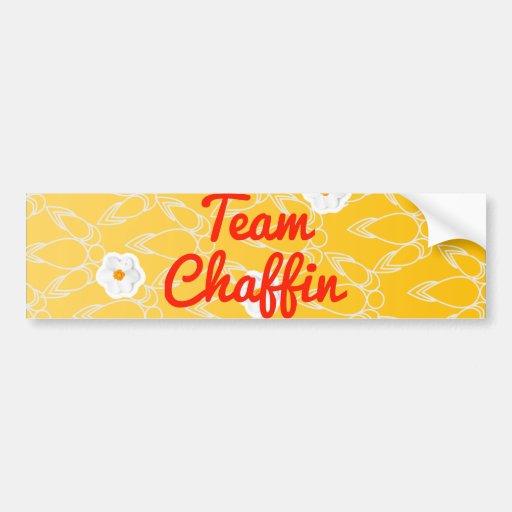 Equipo Chaffin Etiqueta De Parachoque