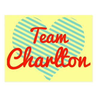 Equipo Charlton Tarjetas Postales