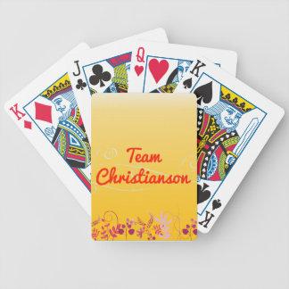 Equipo Christianson Baraja Cartas De Poker