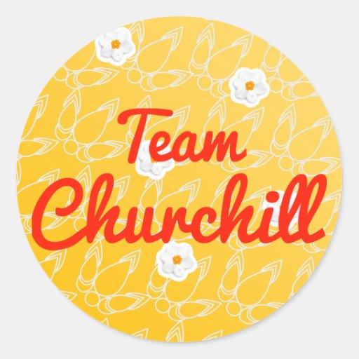 Equipo Churchill Pegatinas Redondas