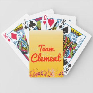 Equipo clemente barajas de cartas
