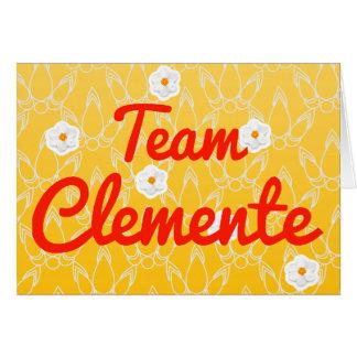 Equipo Clemente Tarjeta