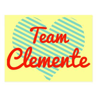 Equipo Clemente Tarjeta Postal