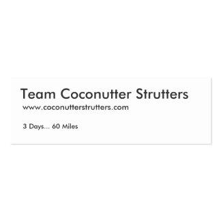 Equipo Coconutter Strutters Tarjetas De Visita