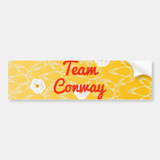 Equipo Conway Pegatina Para Auto