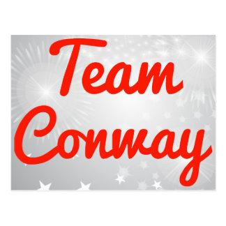 Equipo Conway Tarjeta Postal