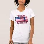 Equipo corriente América de la bandera americana Camiseta