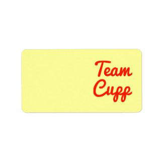 Equipo Cupp Etiqueta De Dirección