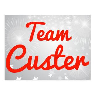 Equipo Custer Tarjeta Postal