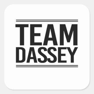 Equipo Dassey Pegatina Cuadrada