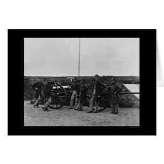 Equipo de arma de Massachusetts en el fuerte Tarjeta De Felicitación