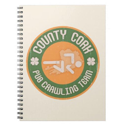 Equipo de arrastre del Pub del corcho del condado Cuadernos