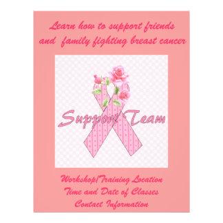 """Equipo de ayuda del cáncer de pecho folleto 8.5"""" x 11"""""""