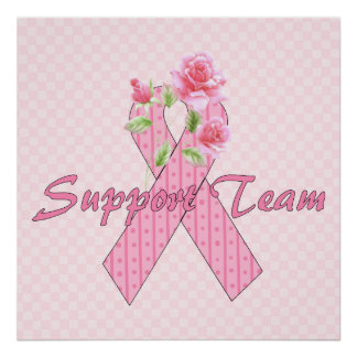 Equipo de ayuda del cáncer de pecho póster