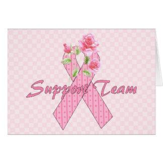 Equipo de ayuda del cáncer de pecho tarjetón